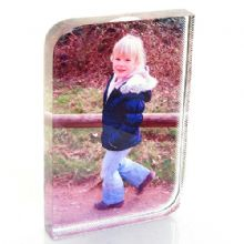 Curved Photo Crystal Block - Personalised Glass Photo Gift